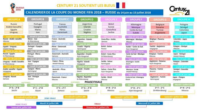 Calendrier de la coupe du monde 2018 century 21 osmose - Resultat de qualification coupe du monde ...